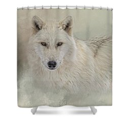 Snow Wolf Shower Curtain