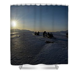 Snowmobile Expeditions Shower Curtain