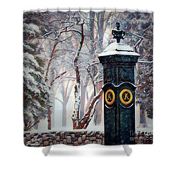 Snowy Keeneland Shower Curtain