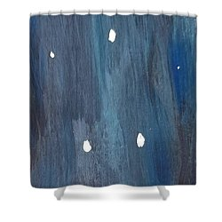 Shower Curtain featuring the painting Snowy Night by Maria Langgle