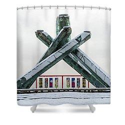 Snowy Olympic Cauldron Shower Curtain