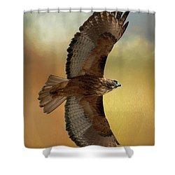 Soaring Hawk Shower Curtain
