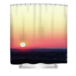 Solar Tangent Shower Curtain
