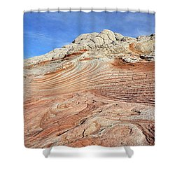Solid Waves Pano Shower Curtain