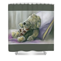 Shower Curtain featuring the pastel Someone Waits For Me by MM Anderson