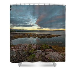Somes Sound Sunset Shower Curtain