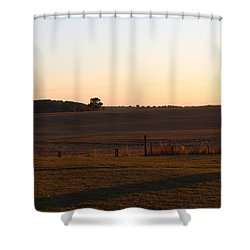 Somme Sunset Shower Curtain