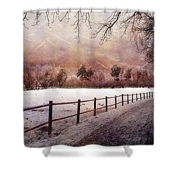 Shower Curtain featuring the photograph Sounds In The Paddock by Randi Grace Nilsberg