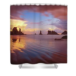 Shower Curtain featuring the photograph South Coast Sunset by Darren White