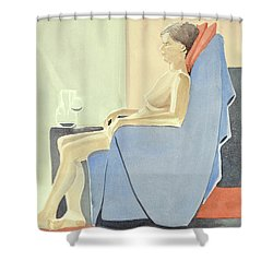 Sovande Sittande Sitting Asleep 2013 06 15-16_0091 4 Mb Up To 61x91 Cm  Shower Curtain