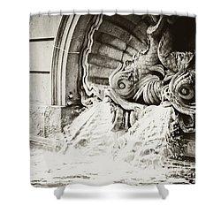 Spanish Fountain Fish Shower Curtain