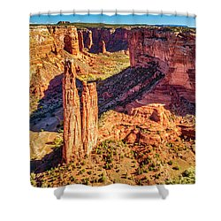 Shower Curtain featuring the photograph Spider Rock by Andy Crawford
