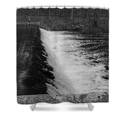 Spillway In Detail - Waterloo Village Shower Curtain