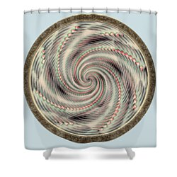 Shower Curtain featuring the photograph Spinning A Design For Decor And Clothing by John M Bailey