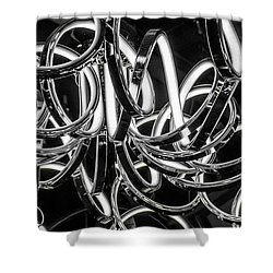 Spirals Of Light Shower Curtain
