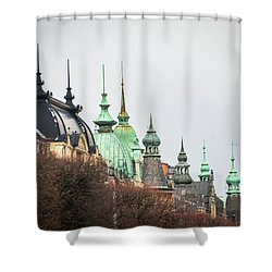 Spires Of Stockholm Shower Curtain