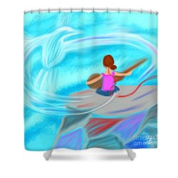 Spirit Song Shower Curtain