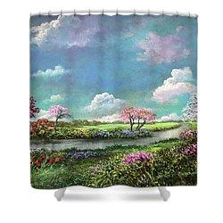 Spring In The Garden Of Eden Shower Curtain