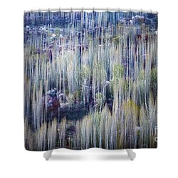 Spring Strokes Shower Curtain