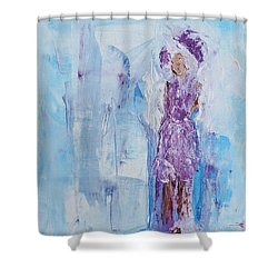 Spunky Angel Shower Curtain
