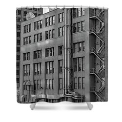 Squares And Lines Shower Curtain