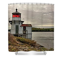 Squirrel Point Light Shower Curtain