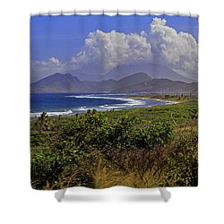 Shower Curtain featuring the photograph St Kitts  by Tony Murtagh