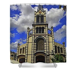 Shower Curtain featuring the photograph St. Louis Cathedral by Tony Murtagh