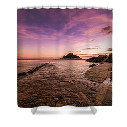 St Michael's Mount - January Shower Curtain