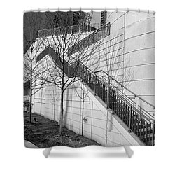 Stairs Up The Side Shower Curtain