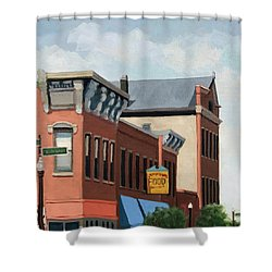 Standing Tall -local City Buildings Shower Curtain