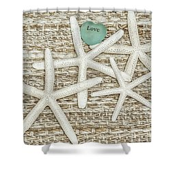 Starfish Love Shower Curtain