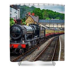 Steam Locomotive Wales Shower Curtain