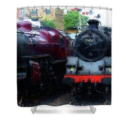 Steam Trains Shower Curtain