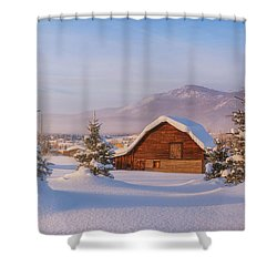 Shower Curtain featuring the photograph Steamboat Morning by Darren White