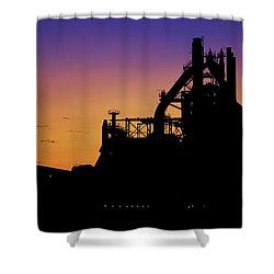 Steel City Sunrise Shower Curtain