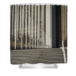 Steps And Poles Shower Curtain