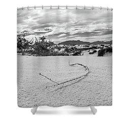 Sticky Sand Shower Curtain