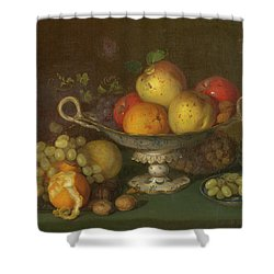 Still Life With Fruit, 1844 Shower Curtain