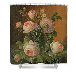 Still Life With Roses, Circa 1860 Shower Curtain