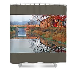 Still Waters On The Canal Shower Curtain