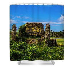 Shower Curtain featuring the photograph Stone Oven by Stuart Manning