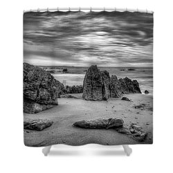 Shower Curtain featuring the photograph Storm At Leo Carrillo by John Rodrigues