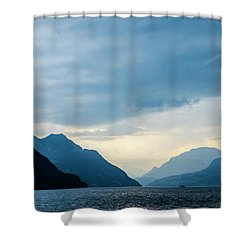 Storm Clouds On Lake Lucerne Shower Curtain