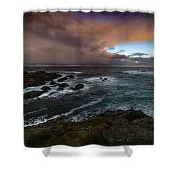 Storm Coastline Shower Curtain