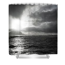 stormy coastline in northern Norway Shower Curtain
