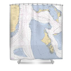 Straits Of Florids, Eastern Part Noaa Chart 4149 Edited. Shower Curtain