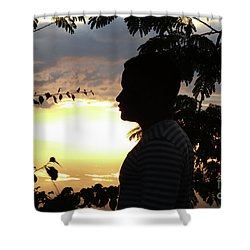 Into The Shadows  Shower Curtain