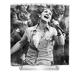 Street Singer In Florence Shower Curtain