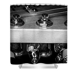Shower Curtain featuring the photograph Strings Series 11 by David Morefield
